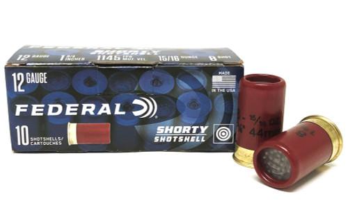 """12 Gauge Federal SHORTY Shotshells 1-3/4"""" #8 shot, 15/16oz. FSH129-8"""