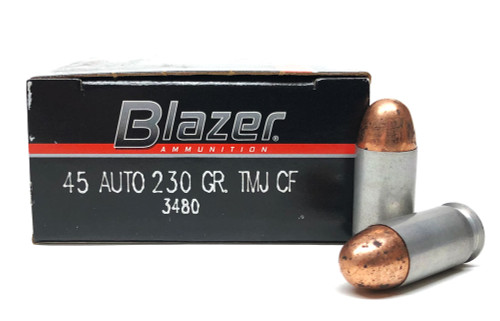 45 ACP 230 Grain FMJ Blazer Aluminum Cleanfire 3480 3480