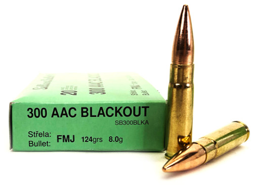 300 AAC Blackout 124 Grain FMJ Sellier & Bellot SB300BLKA