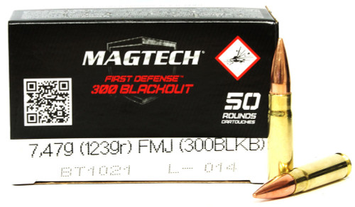 300 AAC Blackout 123 Grain FMJ Magtech MT300BLKB