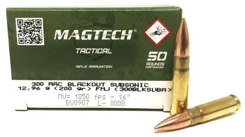 300 AAC Blackout 200 Grain SUBSONIC FMJ Magtech MT300BLKSUBA
