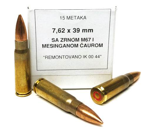 7.62x39 124gr FMJ YUGO Surplus M67 - Non-Corrosive, Non-Steel Bullet - 1260rd in Sealed Tin YUGO762x39-M67-1260tin