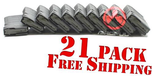 Magpul M3 PMAG 20rd x21 Pack *FREE SHIPPING - LR/SR 308/7.62NATO - Black MAG291-BLKx21FREEShip