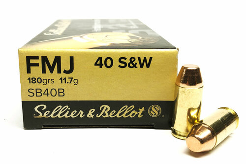 40 S&W 180 Grain FMJ Sellier & Bellot - 50 Rounds SB40A