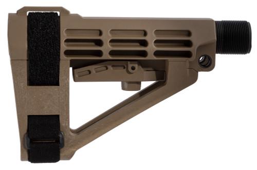 SB Tactical SBA4 Pistol Stabilizing Collapsing Brace - FDE SBA4FDE