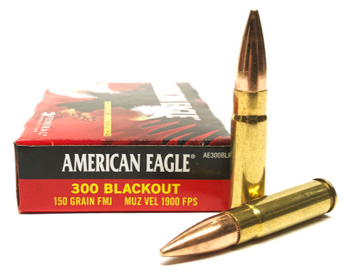 300 AAC Blackout 150 Grain FMJ Federal American Eagle AE300BLK1