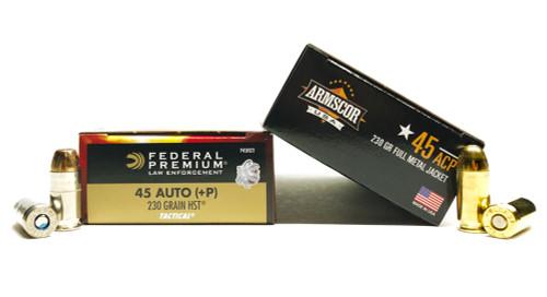 45 ACP 230gr FMJ Armscor-USA + 45 ACP 230gr HST +P Federal Premium FAC45A-12N+FDP45HST1
