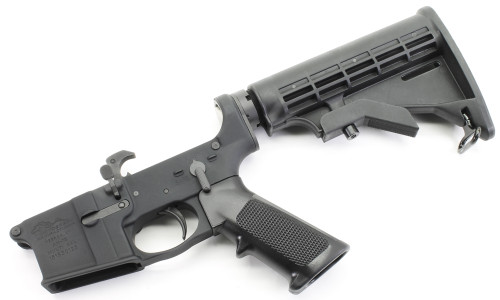 Anderson AM-15 AR15 Complete Lower with M4 Collapsing Stock - Winter Trigger Guard AND-AM15T-UM-6-WTG