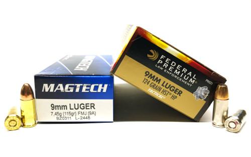 9mm 115gr FMJ S&B + 9mm 124gr HST JHP Federal - 250rd COMBO SB9A+FDP9HST1