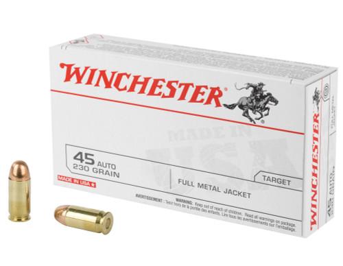 45 ACP 230 Grain FMJ Winchester USA Q4170 Q4170
