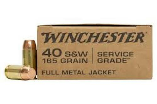 40 S&W 165 Grain FMJ Winchester Service Grade SG40W SG40W