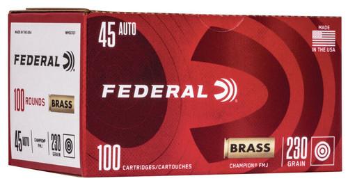 45 ACP 230 Grain FMJ Federal Champion Training - 100 Rounds FDWM52331