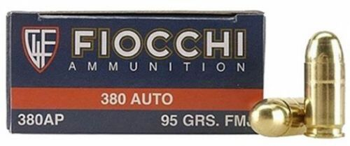 380 Auto 95 Grain FMJ Fiocchi 380AP 380AP