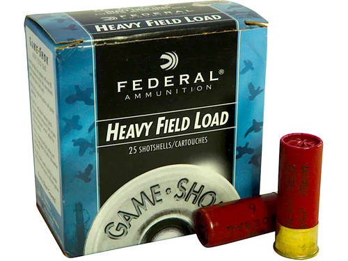 "12 Gauge Federal Game-Shok Heavy Field 2 3/4"" 1-1/8oz. #6 Shot - 25 Rounds FDH1236"