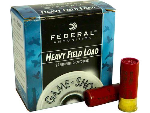 "12 Gauge Federal Game-Shok Heavy Field 2 3/4"" 1-1/8oz. #6 Shot - 25 Rounds FDH1236"