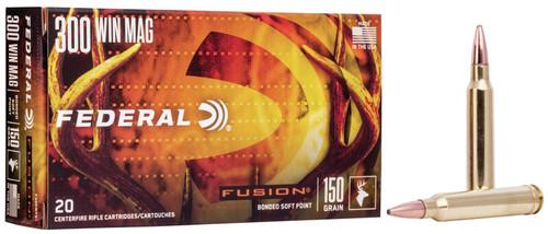 300 Win Mag 150 Grain SBT Federal Fusion FDF300WFS1