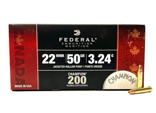 22 Magnum Federal 50 Grain Jacketed Hollow Point 759C - 200 Rounds FED759C