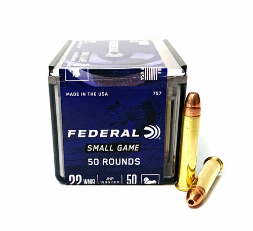 22 Magnum Federal Small Game 50 Grain Jacketed Hollow Point 757 FD757