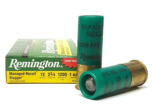 "12 Gauge Remington Managed-Recoil SLUGGER Rifled Slugs - 2 3/4"" RMRL12RS/20290"