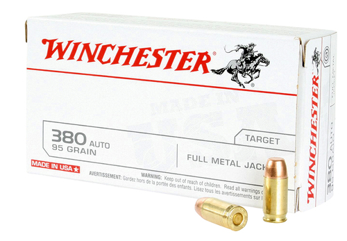 380 Auto 95 Grain FMJ Winchester Target Ammunition WINQ4206