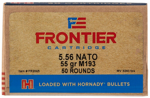 5.56 55 Grain FMJ (M193) FRONTIER with Hornady Bullets HFR2005