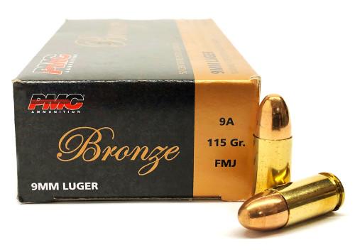 9mm 115 Grain FMJ PMC Bronze PC9A