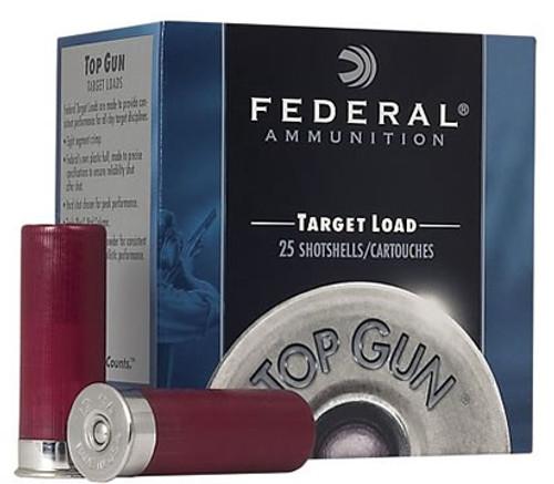 "12 Gauge Federal Top Gun Target 2 3/4"" 1 1/8oz. #7.5 Shot - 25 Rounds FDTGL12 7.5"