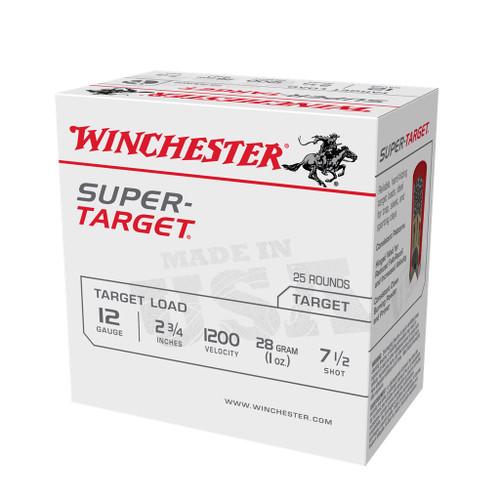 """12 Gauge Winchester Super Target Load 2 3/4"""" 1oz #7.5 Shot TRGT12007- 25 Rounds TRGT12007-7.5"""