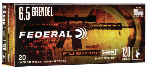 6.5 Grendel 120 Grain Federal Fusion SP - 20 Rounds F65GDLMSR1