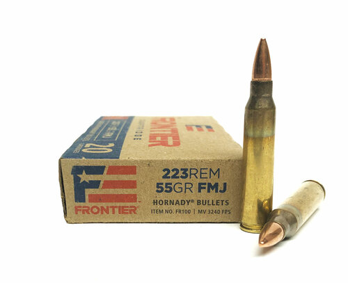 .223 55 Grain FMJ FRONTIER with Hornady Bullets FR100 HFR100