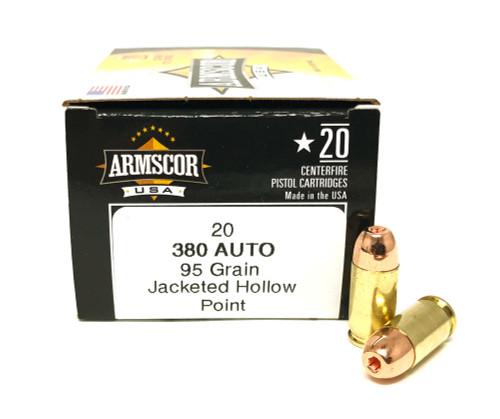380 Auto 95 Gr JHP Armscor USA FAC380-3N-60rd--