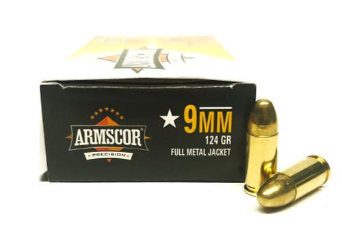 9mm 124 Grain FMJ Armscor - 50 Rounds ACP9-50041-50