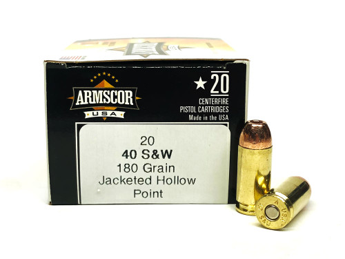 40 S&W 180 Grain Jacketed Hollow Point JHP Armscor USA F AC 40-3N