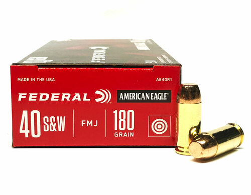40 S&W 180 Grain FMJ Ball Federal American Eagle AE40R1 - 50 Rounds FDAE40R1