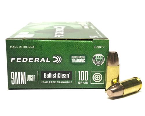 9mm 100 Grain RHT Federal Ballisticlean BC9NT3 FDBC9NT3