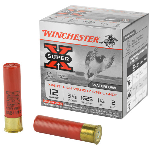 """12 Gauge Winchester Xpert HV 3.5"""" #2 Shot WEX12LM2 - 25 Rounds WEX12LM2"""