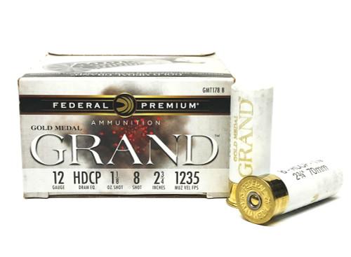 12 Gauge Federal Gold Medal Grand Plastic 12 Gauge #8 Shot FDGMT178 8