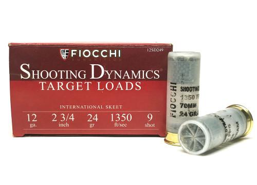 "12 Gauge FIOCCHI 2 3/4"" #9 Shot Shooting Dynamics Target Load 12SD249 12SD249"
