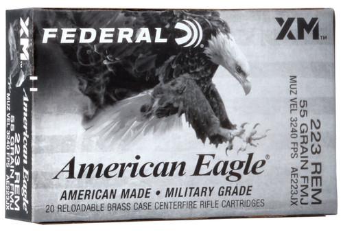 .223 55 Grain FMJ-BT Federal American Eagle AE223JX FDAE223JX