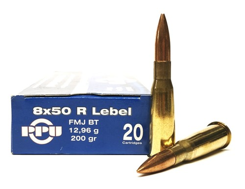 8x50R LEBEL (NOT Mauser) 200 Grain FMJ Prvi Partizan PP8.2, PP8L PP8.2, PP8L