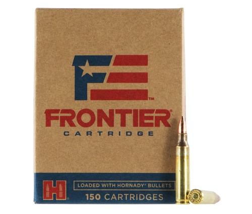 5.56 55 Grain FMJ (M193) FRONTIER with Hornady Bullets FR2015 - 150 Rounds HFR2015-150