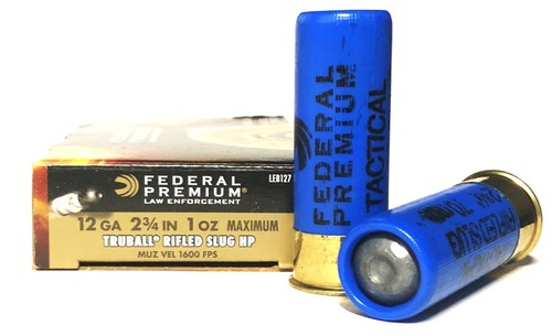 """12 Gauge Federal LE 2-3/4"""" Tactical TruBall Deep-Penetrator Rifled Slug LEB127 RS - 5 Rounds FDLEB127RS"""