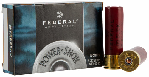 "12 Gauge Federal Power-Shok 3"" 00 Buckshot 15 Pellet F13100 - 5 Rounds FDF13100"