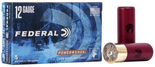 "12 Gauge Federal Power-Shok 2-3/4"" 00 Buckshot 9 Pellet H13200 - 5 Rounds FDH13200"