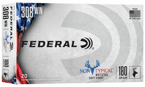 .308 Win 180 Grain SP Federal Non-Typical 308DT180 - 20 Rounds 308DT180