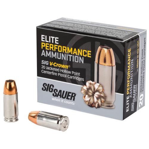 9mm 124 Grain V-Crown JHP Sig Sauer Elite Performance E9MMA2 - 20 Rounds SIGE9MMA2-20