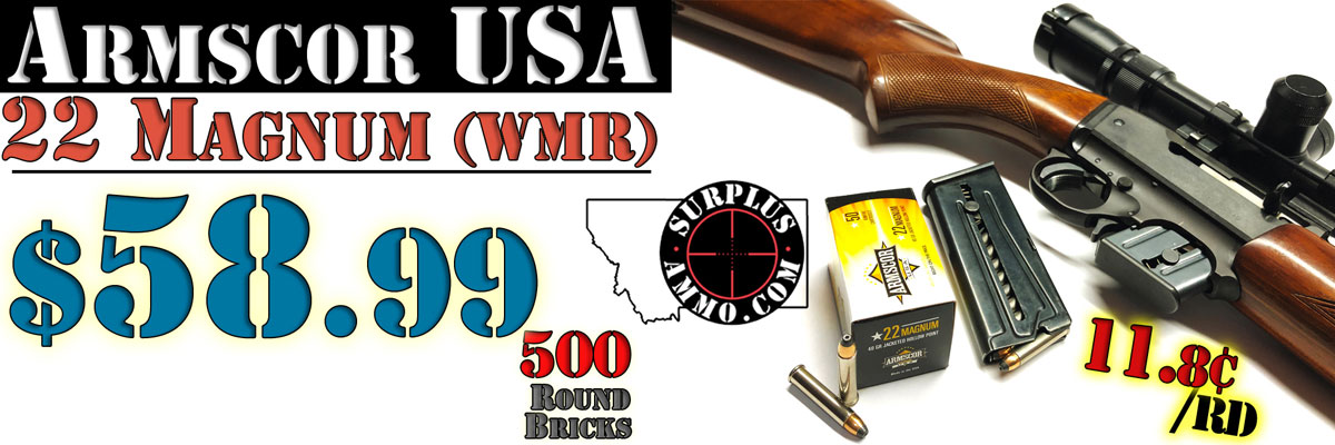 22 Magnum WMR Bulk Ammo For Sale In Stock - Surplus Ammo