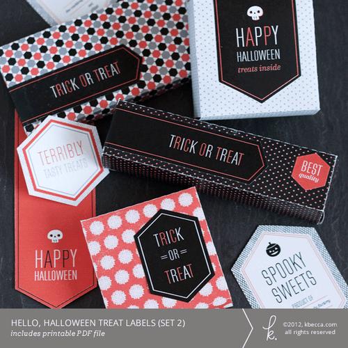 Hello, Halloween Printable Beverage Labels - k becca