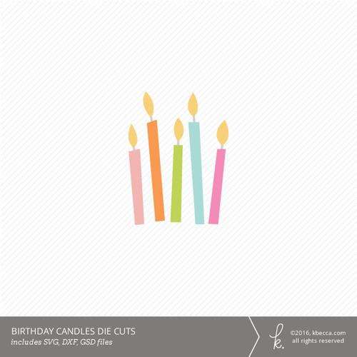 Birthday Wishes Cut Files K Becca