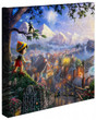 """Pinocchio Wishes Upon A Star 14"""" x 14"""" Gallery Wrapped Canvas"""